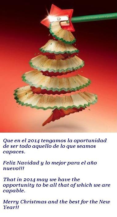 Felices fiestas y próspero 2014
